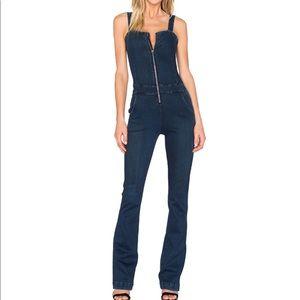 NWOT 3x1 NYC zip front Flare denim jumpsuit